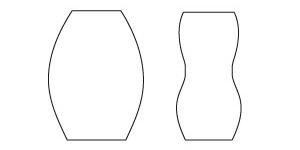 回転シルク印刷の出来ない形状